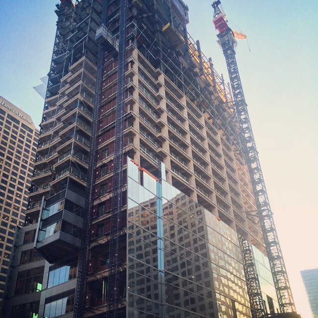 The Wilshire Grand Tower's exterior takes shape. #dtla #losangeles