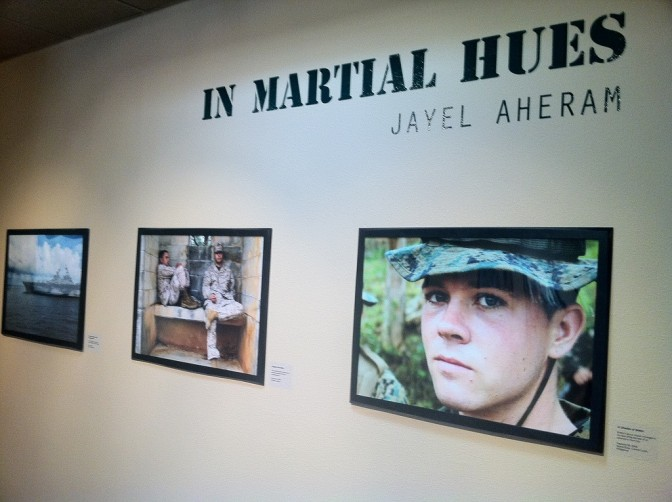 """In Martial Hues"" exhibition at Palm Desert City Hall."