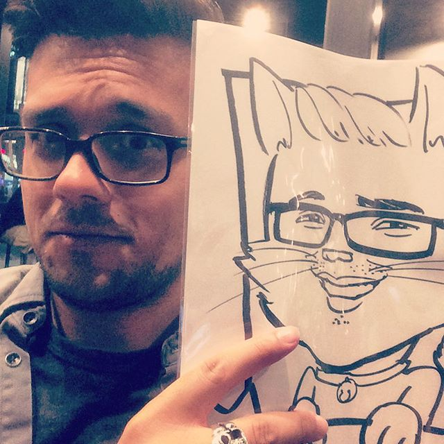 I asked someone to draw me as a cat. #hollywood #losangeles #gayboy