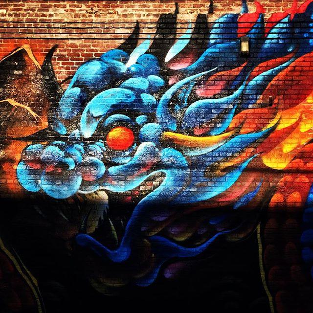Dragon mural. #dtla #losangeles