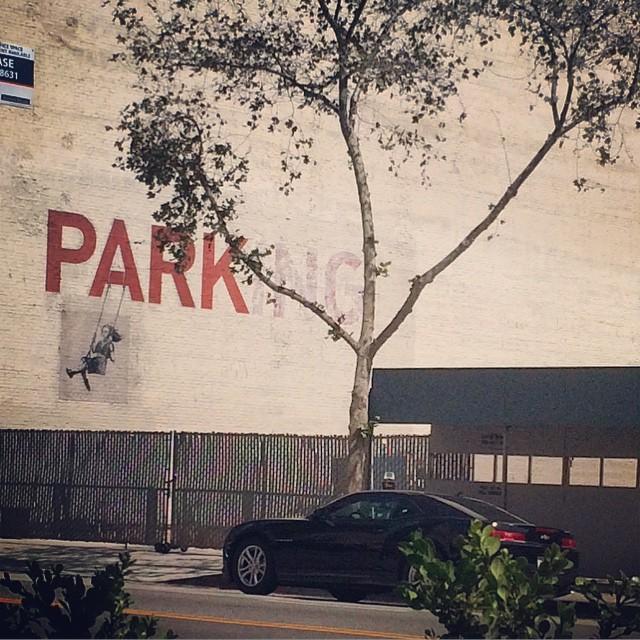 PARK[ING]. #dtla #losangeles #lastreetart #banksy