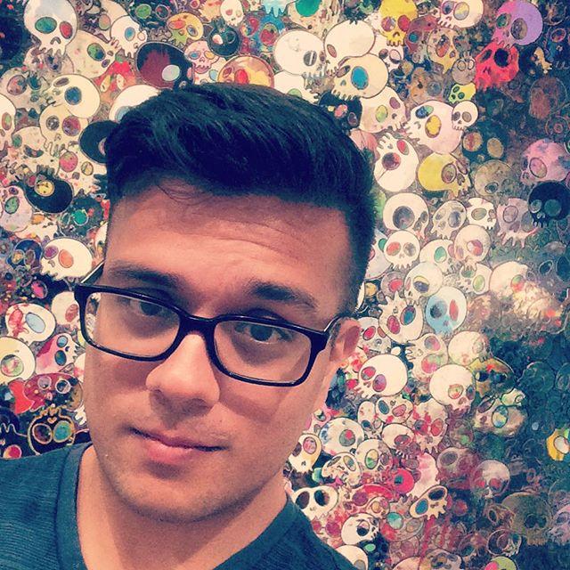 Takashi Murakami at the Broad Museum. #dtla #losangeles #broadmuseum #gayboy