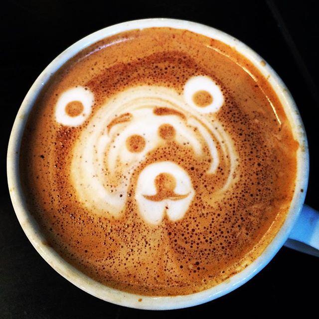 I think it's a bear. A tiger bear. @syrupdesserts #dtla #losangeles