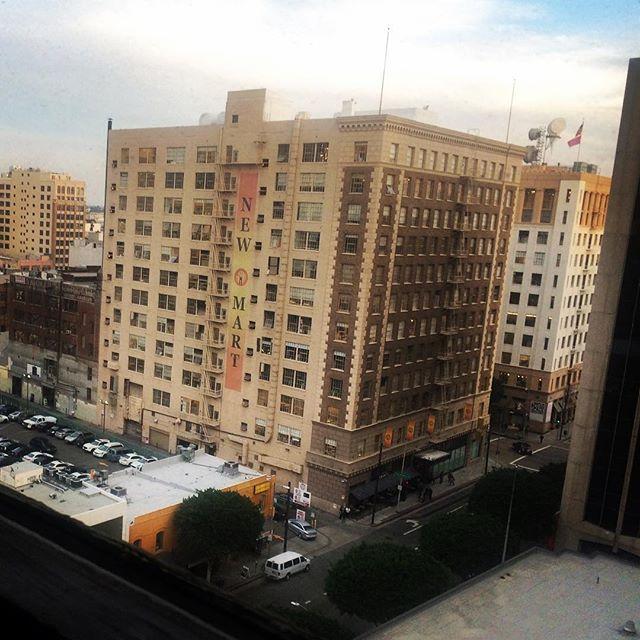 The view atop the LA Apparel Mart building. #dtla #losangeles