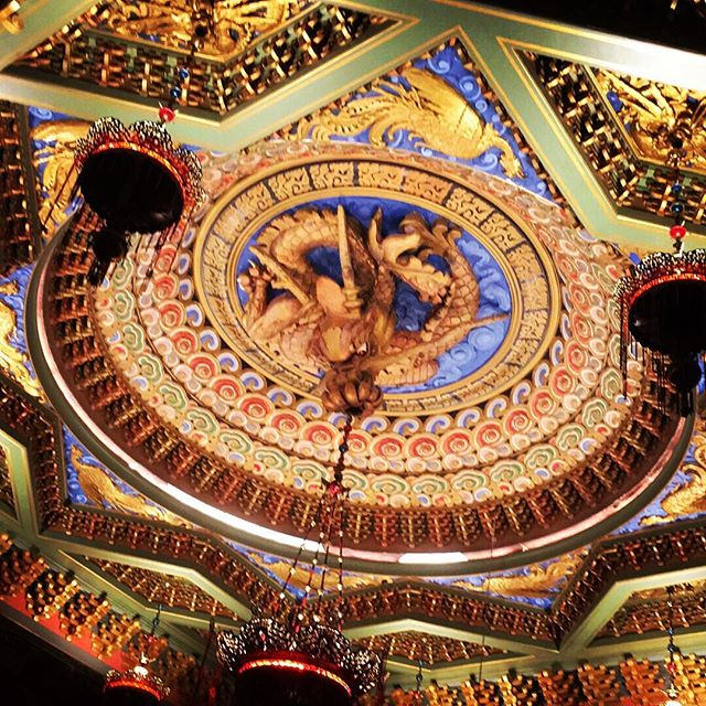 5th Avenue Theater's ceiling.