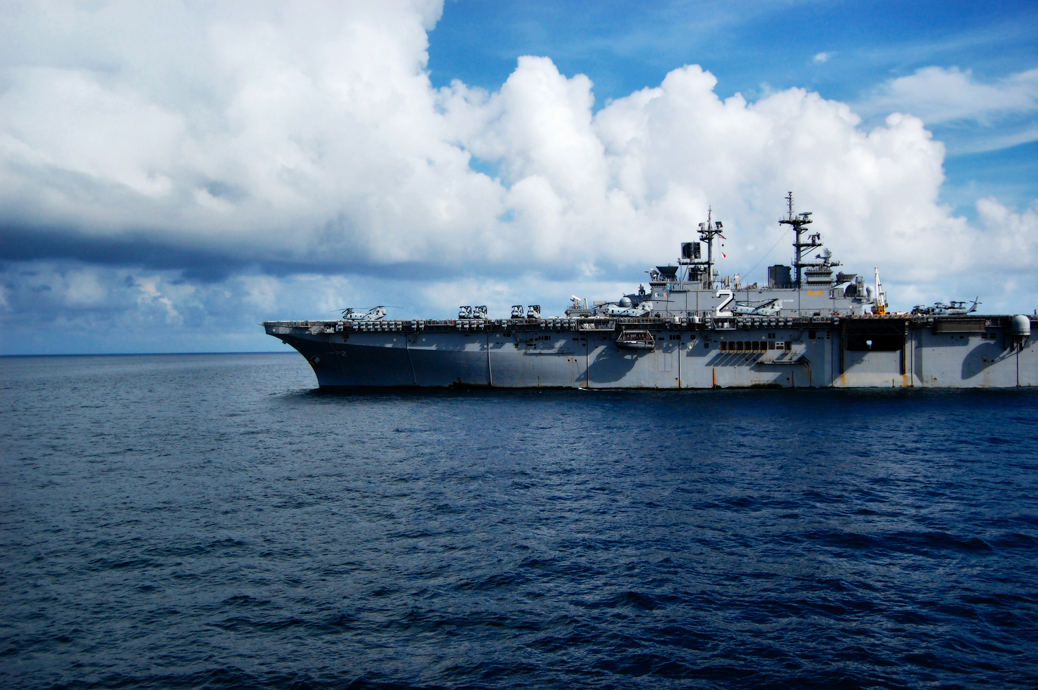 """The USS Essex in the Andaman Sea"" by Jayel Aheram. The USS Essex is much nicer than the Mighty J (USS Juneau). June 3, 2008. The Andaman Sea."