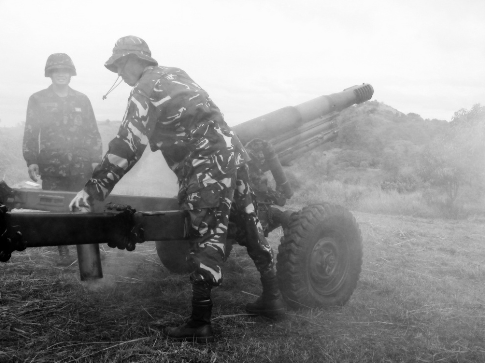 Firing the 105 MM